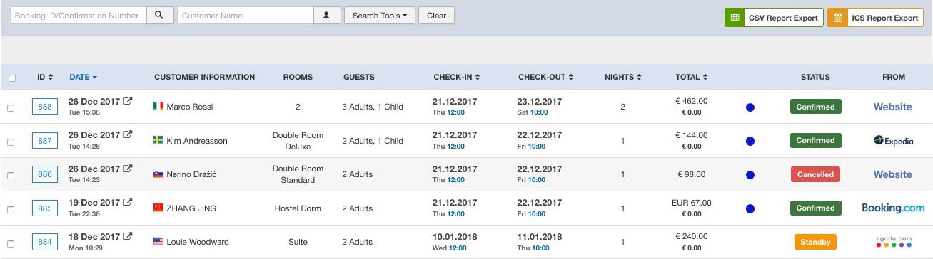 Calendario Prenotazioni Hotel Excel.Sistema Di Prenotazione Booking Engine Per Hotel Agriturismi